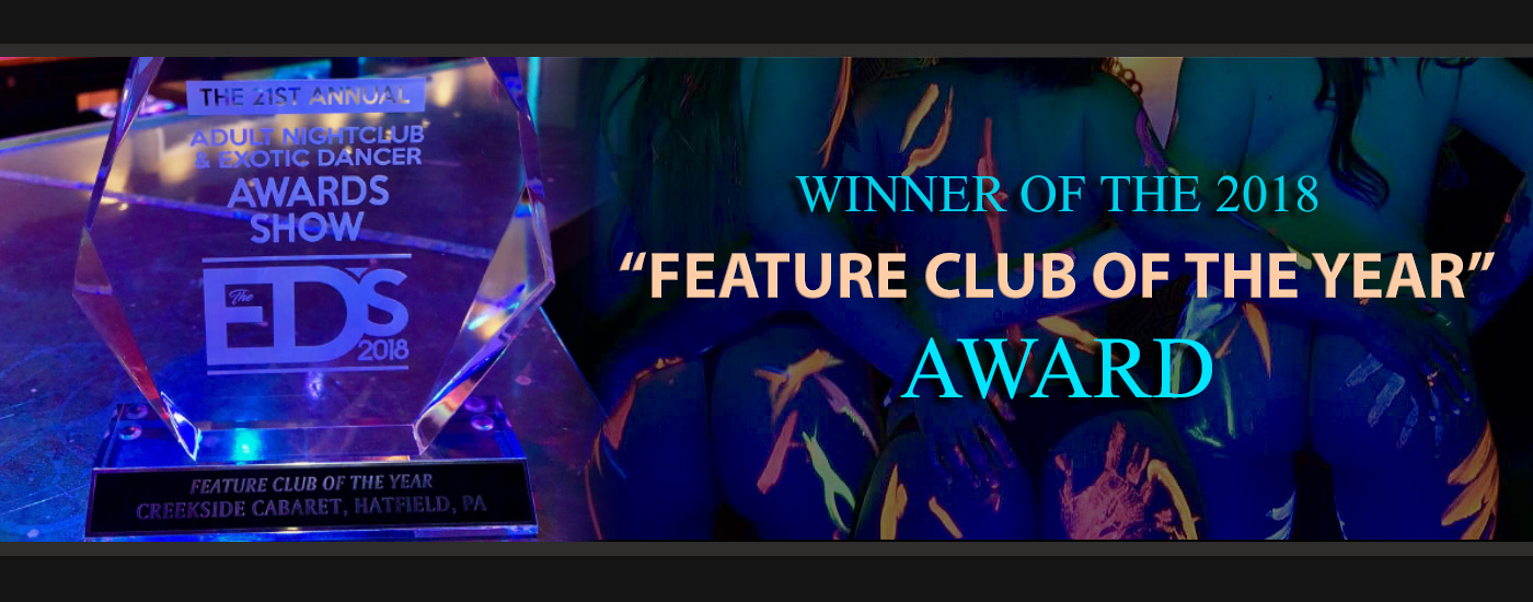 Creekside Cabaret nominated for the 2018 Exotic Dancer Club of the Year East award! Vote at theedawards.com!