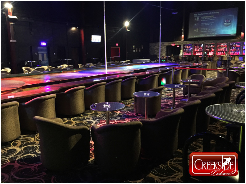 Creekside Cabaret Gentlemen's Club Montgomery County Pennsylvania Large Stage, Stage Side Suites and Bar